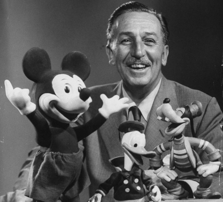 Walt-Disney-With-His-Immortal-Creations